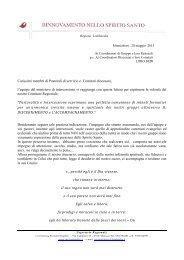 Carissimi membri di Pastorali di servizio e Comitati ... - RnS Lombardia