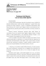 Testimoni del Risorto con la forza dello Spirito - RnS Lombardia