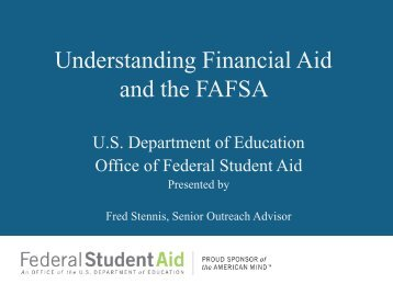 Understanding Financial Aid and the FAFSA - osse