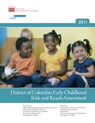 District of Columbia Early Childhood Risk and Reach ... - osse