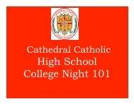 Junior parent night.pptx - Cathedral Catholic High School
