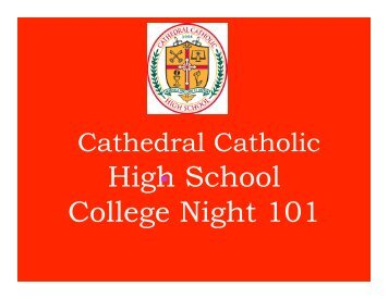 Junior parent night.pptx - Cathedral Catholic High School