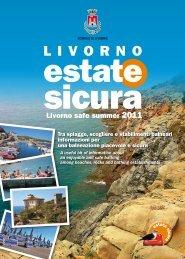Opuscolo Estate Sicura 2011 - Comune di Livorno