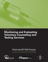 Monitoring HIV/AIDS Programs: A Facilitator's Training Guide ...