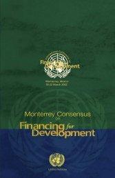 Monterrey Consensus - Global HIV M&E Information