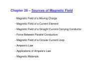 Chapter 28 – Sources of Magnetic Field - UCF Physics