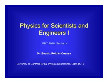 T - UCF Physics - University of Central Florida