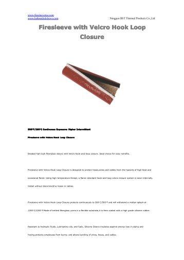 Firesleeve with Velcro Hook Loop Closure