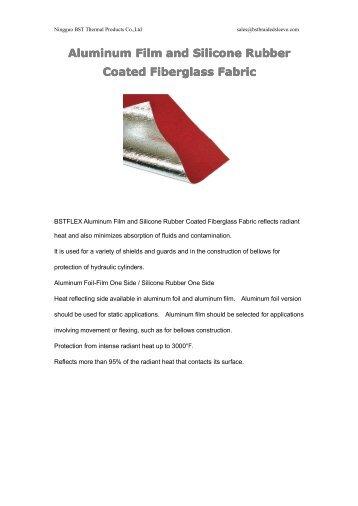 Aluminum Film and Silicone Rubber Coated Fiberglass Fabric