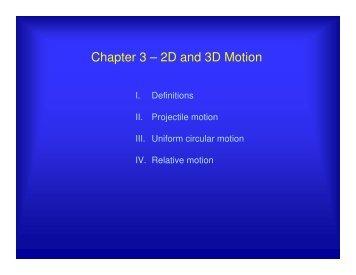 2-D Motion - UCF Physics