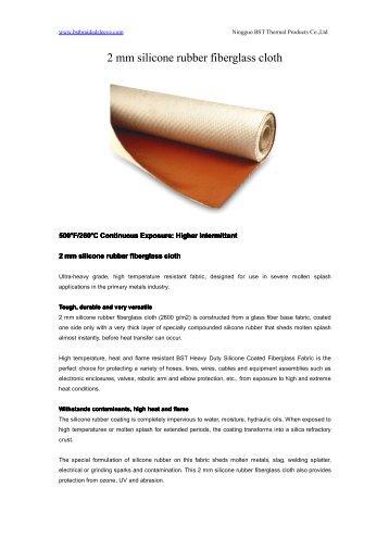 2 mm silicone rubber fiberglass cloth