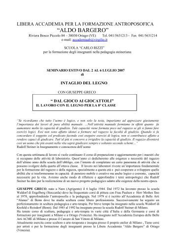 LIBERA ACCADEMIA - Rudolf Steiner
