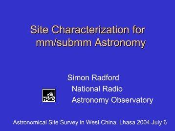 Site Characterization for mm/submm Astronomy
