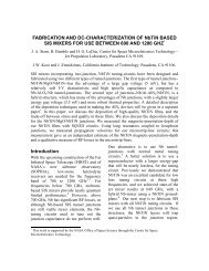 Fabrication and DC-Characterization of NbTiN Based SIS Mixers for ...