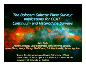The Bolocam Galactic Plane Survey: Implications for CCAT ...