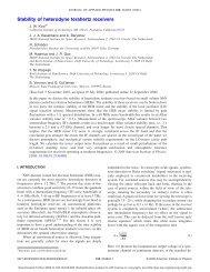 Stability of heterodyne terahertz receivers - ResearchGate