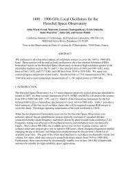 1400 – 1900 GHz Local Oscillators for the Herschel ... - JSWard.com