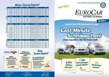 Last Minute - Eurocar Zentrum