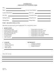 CONFIDENTIAL EMPLOYEE EXIT INTERVIEW FORM Date: Name ...