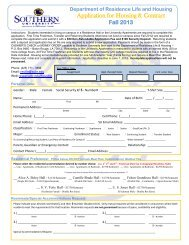 Fall 2013 Application for Housing - Southern University at Baton ...