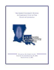 LLA Audit Report 2005 - Southern University at Baton Rouge
