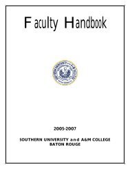 Faculty Handbook - Southern University at Baton Rouge