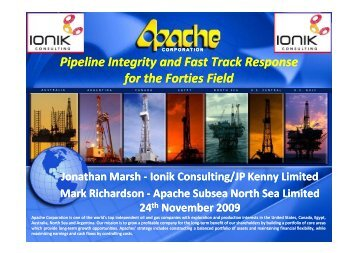 Pipeline Integrity and Fast Track Response for the ... - Subsea UK