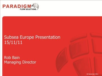 Operations Readiness Presentation - Subsea UK