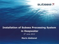 Installation of Subsea Processing System in Deepwater - Subsea UK