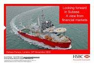HSBC - David Phillips - Subsea UK