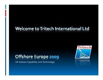 UK Subsea Capability and Technology - Subsea UK