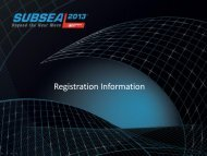 Subsea 2013 - Registration Overview - Subsea UK