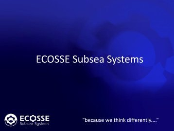 ECOSSE Subsea Systems - Subsea UK