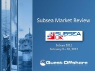 Subsea Market Review - From the Contractors - Subsea UK
