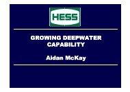 GROWING DEEPWATER CAPABILITY Aidan McKay ... - Subsea UK