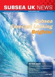 Subsea Forecast Looking Brighter - Subsea UK