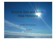 Barents Sea and Arctic: New Horizons - Subsea UK