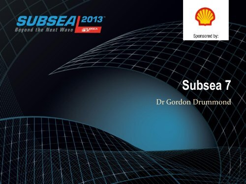 Subsea Condition Monitoring - Subsea UK