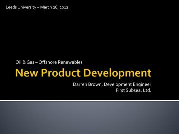 New Product Development - Subsea UK