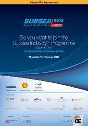 Do you want to join the Subsea Industry? Programme - Subsea UK