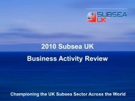 Global Business Activity - Results of 2010 Subsea Survey - Subsea UK