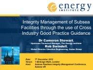Energy Institute - Subsea UK