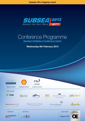 Conference Programme - Subsea UK