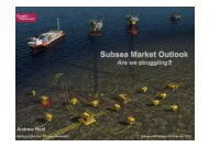 Market and Commercial Outlook - Subsea UK