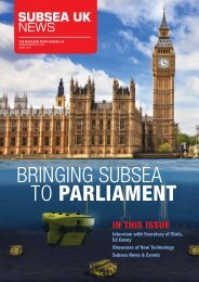 BRINGING SUBSEA TO PARLIAMENT - Subsea UK