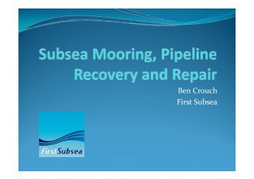 Ben Crouch First Subsea - Subsea UK