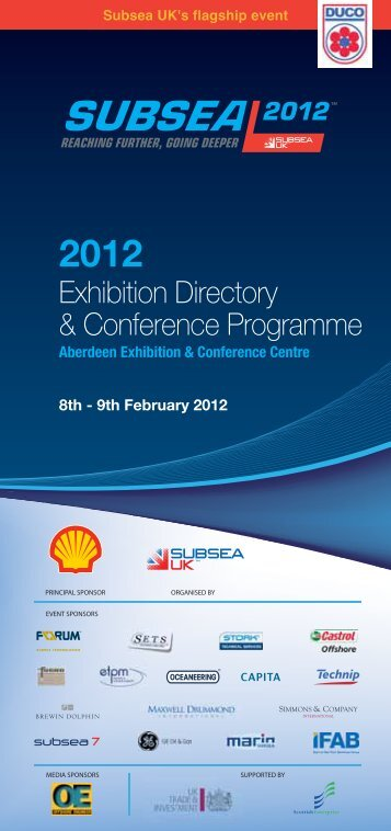 Exhibition Directory & Conference Programme - Subsea UK