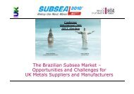 The Brazilian Subsea Market – Opportunities and Challenges for UK ...