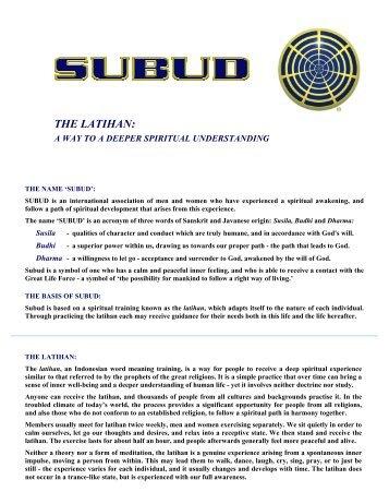 The Latihan: A Way to Deeper Spiritual ... - Subud Canada