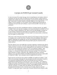 A propos de SUBUD par Léonard Lasalle